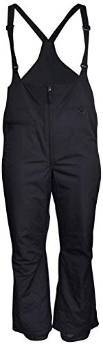 Snow Country Outerwear Women's Plus Size Snow Ski Bibs Overalls Pants (6X (34) Short, Black)
