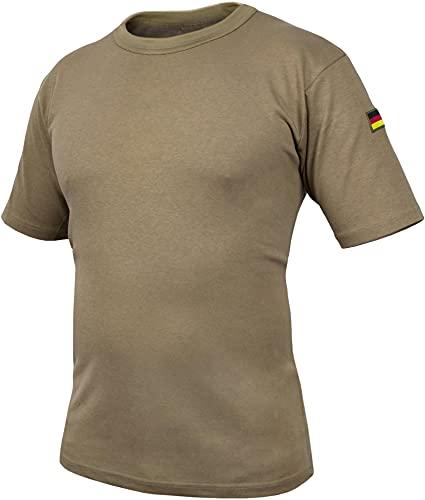 normani Bundeswehr Tropen T-Shirt BW Tropenhemd Unterhemd mit Deutschlandfahnen nach TL BDU Tactical Kurzarm Kampfshirt - OHNE Brustpatch Farbe Khaki Größe XL