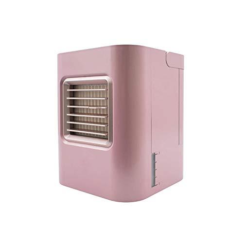 Mini Luftkühler 4 in 1 Air Cooler Klimaanlage Luftkühler Mobile Klimageräte Luftbefeuchter und Luftreiniger Super wind speed Tragbare Klimaanlage Luftkühler für Büro Hotel Küche,Pink