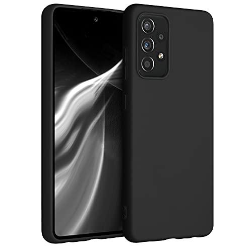 kwmobile Cover Compatibile con Samsung Galaxy A52 - Custodia in Silicone TPU - Backcover Protezione Posteriore- Nero Matt