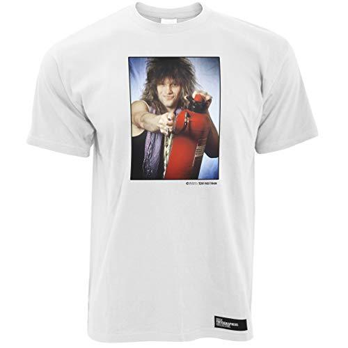 Jon Bon Jovi (2) 1986, TM Herren T-Shirt - Weiß / 5XL