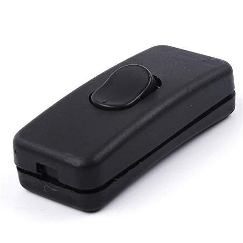 Yijiang Interruptor basculante 10 PCS 10A 250 V Módulo de Entrada Enchufe CHURSTUMPO DE Rocker Socket Socket 3 Pin DE Interruptor + Fuse (Standard : Normal, Voltage : 250V)