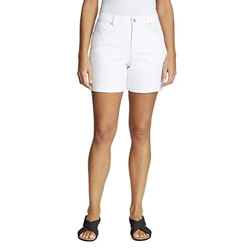 Gloria Vanderbilt Damen Amanda Shorts, Vintage White, 38 Zierlich