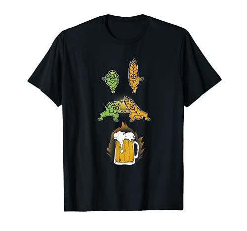 Hop und Malt Fusion mit lustig Bier Bier Shirt