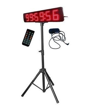 Godrelish singolo Sided Race Timing Clock con il treppiedi per Eventi in corso telecomando IR di colore rosso 5 'LED