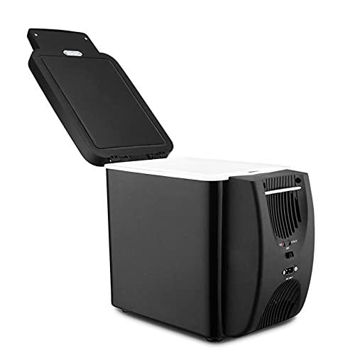 MCYAW 12V refrigerador Congelador Calentador 6L Mini Congelador de automóviles Enfriador y Calentador, Nevera eléctrica Hielo portátil Refrigerador de Viaje (Color : Black)