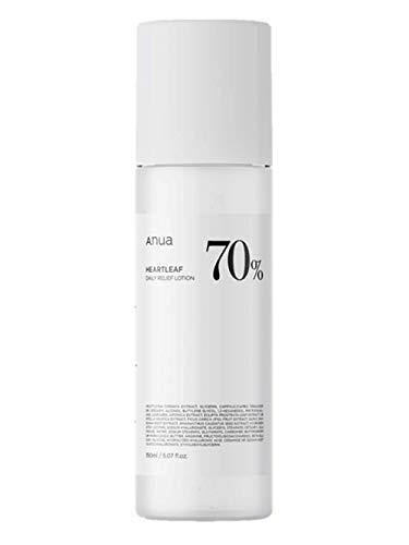 ANUA Heartleaf 70 Daily Relief Lotion 6.76 Ounce, Moisturizing Enhancing Skin Barrier Mild Lotion