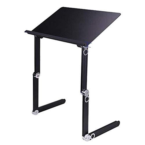 Computerarbeitsplätze Sitz-Stehhöhe Höhenverstellbarer Schreibtisch Vertikale Werkbank Klappbett Schreibtisch Lazy Lift Table Geeignet für Computer unter 19 Zoll (Farbe: Schwarz, Größe: 55357-61 cm)