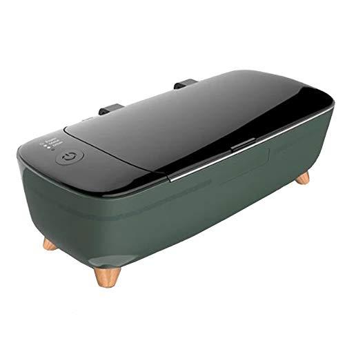 ZJQ-Mini Limpiador Ultrasonidos Ajuste Dos Velocidades, 400 Ml 47Khz Ultra Baño Sonoro, para Joyería Anillo Plata Colgante Gafas Dentaduras Monedas Etc.