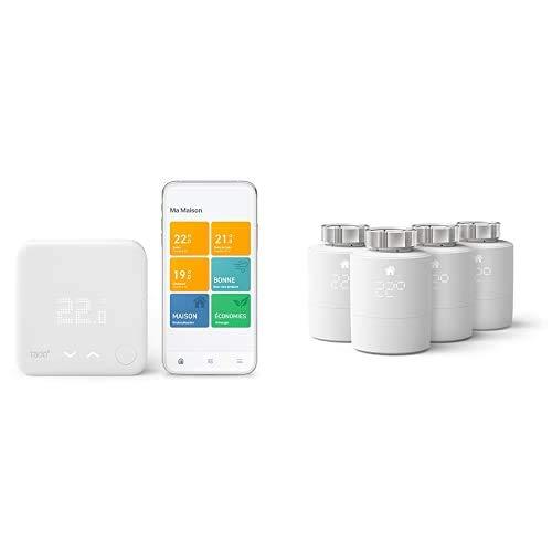 tado° Thermostat Connecté et Intelligent filaire - Kit de Démarrage + Pack...