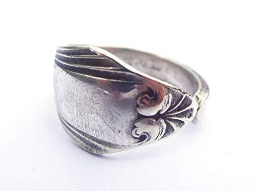 Miniblings Ring aus Besteck Upcycling Gabel Löffel Handarbeit Antik Unikat 113 - Handmade Modeschmuck I Fingerring mit Motiv I one Size
