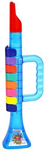 Bontempi – 322769 – muziekinstrument – trompet transparant – super wings – blauw/geel