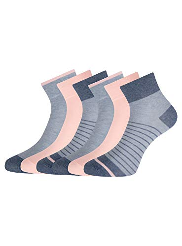 oodji Ultra Damen Baumwoll-Socken (6er-Pack), Mehrfarbig, 35-37