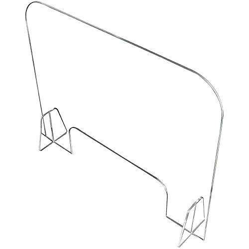 De acrílico transparente Mesa de comedor Aislamiento Junta, Tabiques de uñas, anti-gota deflector, la caja registradora sobremesa, cero contacto (tamaño: 60 * 48 cm)