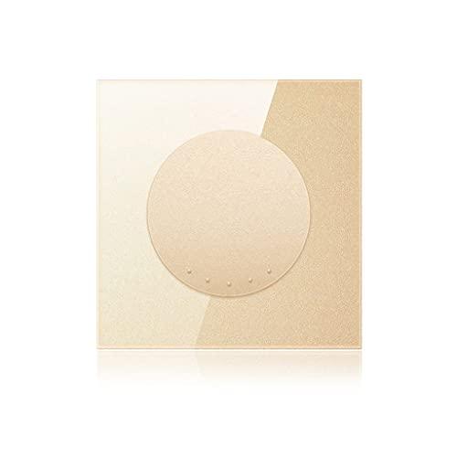 Interruptores de botón Interruptor De Enchufe Interruptor De Metal Retro De 4 Colores Estilo Nórdico Panel De Enchufe Creativo 86 Tipo De Enchufe (Color : Gold, Size : 86mm)