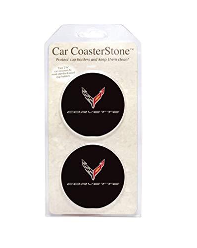 C8 Corvette Cup Holder Coaster Inserts - Set of 2