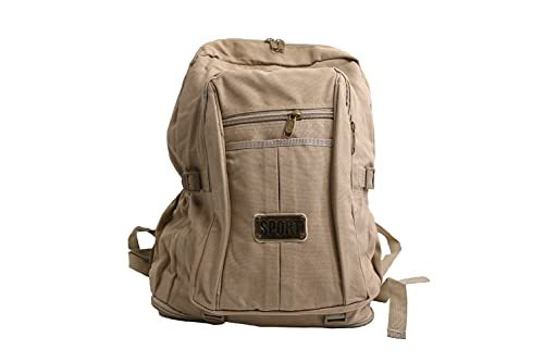 MH Mochila tela, Mochila de montaña, mochila deporte, gran capacidad,ligera,para viajes al aire libre 60L (COLOR TRIGO)