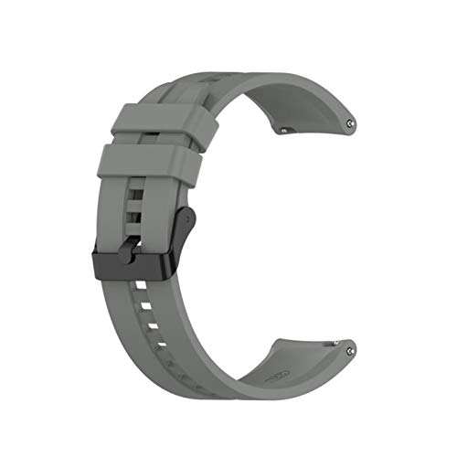 LXF JIAJU para GT2 Pro Correa Silicone Wamkband para Huawei Watch GT 2 GT 46mm / GT 2E / Honor Magic Band Sport Brazalet 22mm Pulsera (Color : 07 Gray, Size : 22mm)
