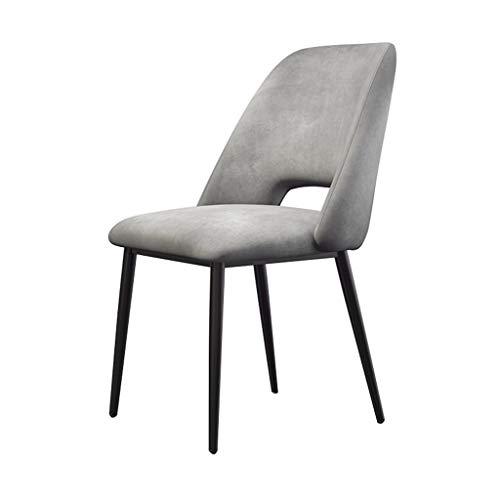 Dining Chair Soft Velvet Black Metal Legs Stühle Stabile Rückenlehne Gepolstertes Wohnzimmer Bürostühle Küchenstühle (43×46×85cm) 4 Farben