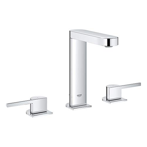 Grohe 20302003 Plus 8″ Widespread Two-Handle Bathroom Faucet L-Size, Starlight Chrome