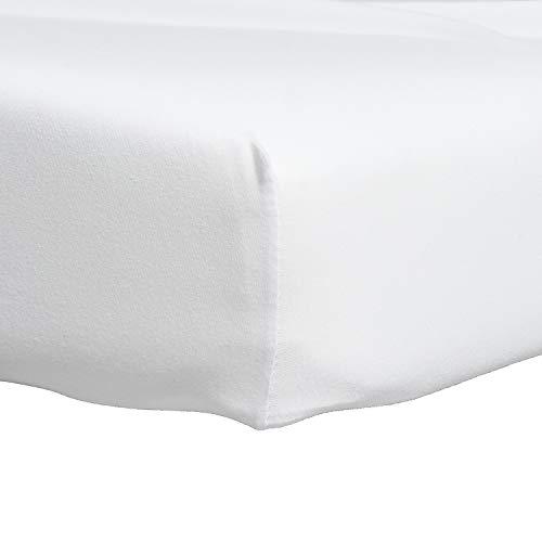 Proheeder hoeslaken sprei - 100% katoen, wit linnen 190 x 90 x 20 cm - Made in Portugal