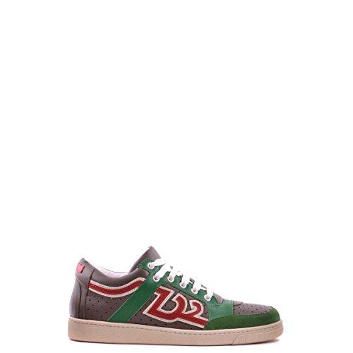 Dsquared2 Dsquared scarpe sneakers uomo in pelle nuove verde