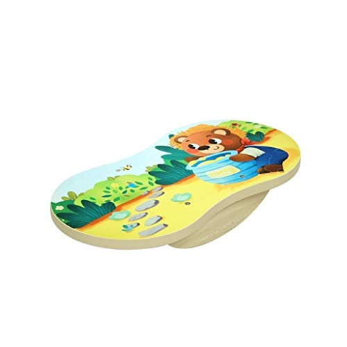 Lowest Prices! Balance Board Professional Wooden Balance Board, Rocker Board, Wood Standing Desk Acc...