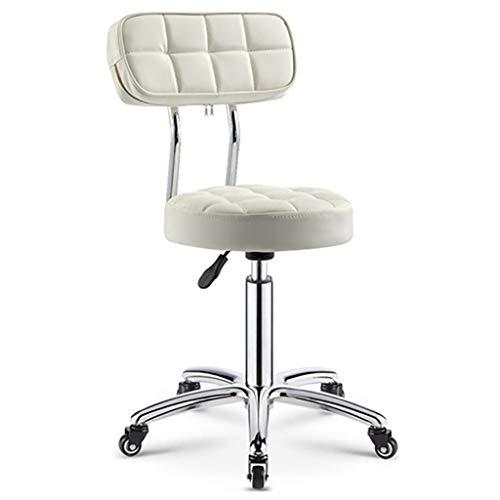 Verstelbare PU-lederen werkstoel, draaistoel, schrijftafel vintage design draaistoel met rugleuning wielen A3