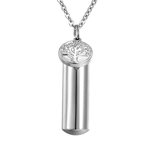 HooAMI Árbol de Vida Encanto urna Memorial collar acero inoxidable cremación joyas