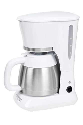 Exquisit KA 6501 we | Kaffeeautomat | Filterkaffeemaschine | Thermoskanne | Tropfstopp | Kaffeemaschine Edelstahl | 800 Watt | weiß