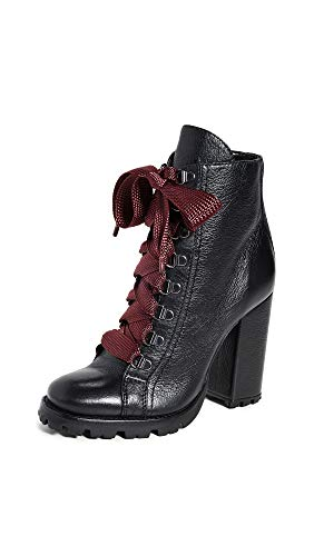 SCHUTZ Women's Zara Lug Sole Boots, Black, 5 Medium US Delaware