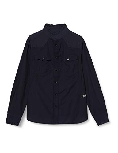 G-STAR RAW Damen Shirt Western Kick Frill Slim, Rinsed 8349-082, Medium
