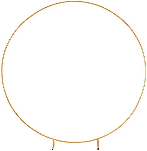 LANGXUN 7 2ft 2 2m Large Size Golden Metal Round Balloon Arch kit Decoration for Birthday Party product image