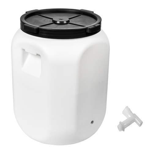 Barril de plástico 60 L + Hahn para bebidas, barril de fermentación, barril de fermentación