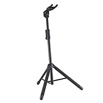 Guitto Guitar Stand - Universal Portable Guitar Stand Adjustable Folding Hanging Guitar Floor Stands Extended Height Tripod Guitar Stand for Acoustic Classical Electric Bass Guitars GGS-06