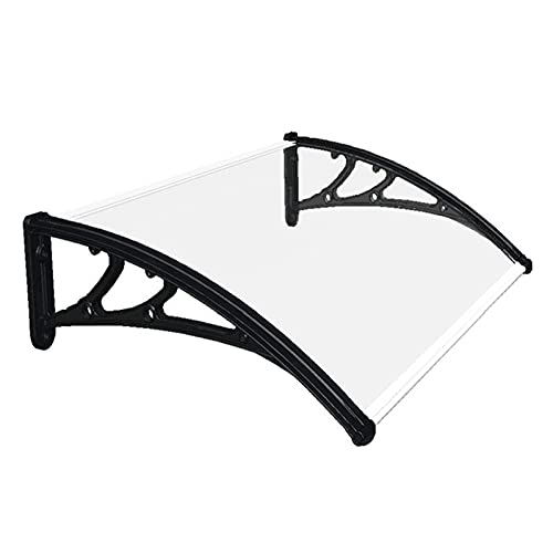 QYQPB Marquesina para de Aluminio, Toldo Exterior Engrosado, Protector de Lluvia para Ventana de Patio Y Terraza, Parasol Transparente para PC Silencioso para El Hogar (Size : 80 * 100cm)