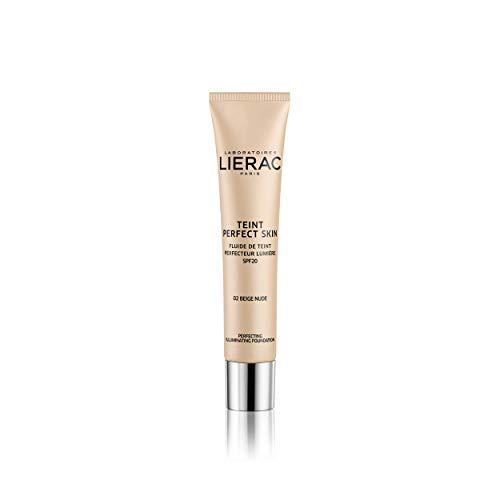 Lierac Teint Perfect Skin Fondotinta Fluido con Acido Ialuronico, per Tutti i Tipi di Pelle, 02 Beige Nude, 30 ml