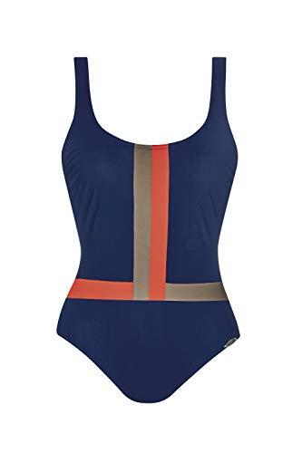 Sunflair Badeanzug 'Digital Rainbow' mit tiefem Rücken, Farbe:Nachtblau, Größe:40B