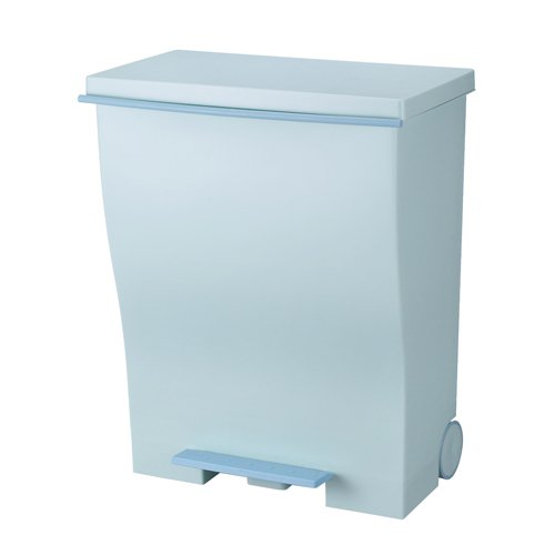 I'mD(アイムディ)ゴミ箱キャスター付Kcudクードワイドペダルオールブルーグリーン39LKUDWDABG