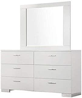 Felicity 6-Drawer Dresser Glossy White