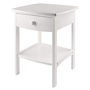 small white end table