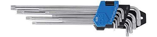 BGS 9375 | Winkelschlüssel-Satz | extra lang + extra kurz | T-Profil (für Torx) T10 - T50 | 9-tlg.