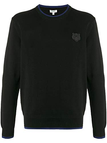 Luxury Fashion | Kenzo Heren FA55PU2023AB99 Zwart Katoen Truien | Lente-zomer 20