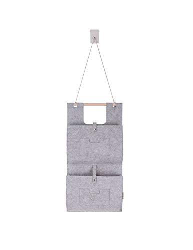 RAIKOU Filzhängetasche Organizer zum Aufhängen an Wand und Tür Wandtasche Filztasche großen Fächern Faltbare Aufhängetasche Fürs Wohnzimmer Kinderzimmer am Schreibtisch und im Bad (Grau,2 Taschen)
