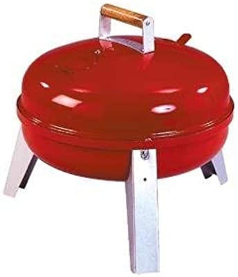 Americana Lock'N Go Charcoal Grill, Red