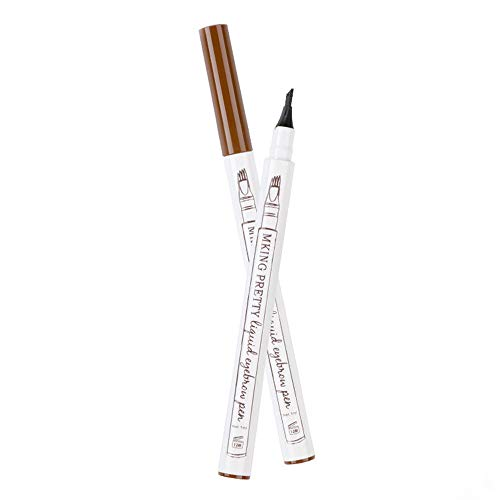 Kapian Eyebrow Tattoo Pen, Farben Augenbrauenstift, Waterproof Long Lasting Microblading Tattoo-Bleistift mit Fork-Tipp, Smudgeproof Ink Stift für Naturhaarfrisur Defined Brows Augenbrauenstift