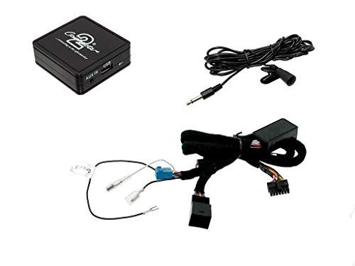 VW Bluetooth en streaming adaptateur pour appels mains libres CTAVGBT009 pour VW Golf Eos Jetta Passat Polo Tiguan Touareg Touran et transporteur 2006 et plus