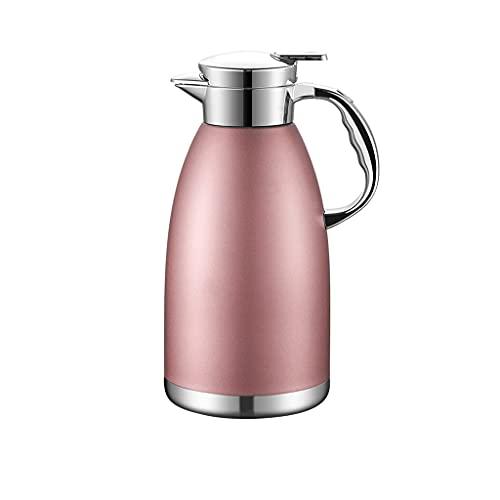 SCRFF Termo de acero inoxidable para café CarafeDouble Walled Vacuum Flask de 12 horas de retención de calor de 1,8 litros de té, Waterand