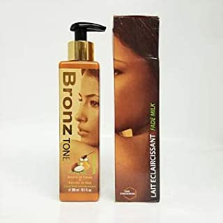 BronzTone Maxi Tone with Cocoa Butter & Honey Extracts Lotion 300ml/10.1oz, UV Protection, Hydroquinone Free, Bronze Tone Perfecting Fade Spots Milk