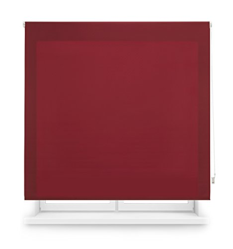 Blindecor Ara - Eester doorschijnend glad rolgordijn 120 x 250 cm bordeaux